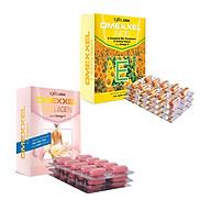 Bộ thực phẩm chức năng viên uống trắng da, chống lão hóa Omexxel E400 & Collagen 60 viên thumbnail