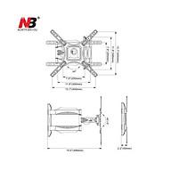Giá treo tivi đa năng góc 2 tay nhập khẩu NBP4 dùng cho tivi 32-55 inch thumbnail