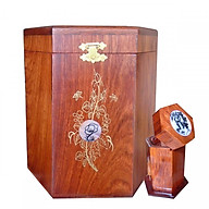 Hộp đựng gói trà gỗ hương ta quý hiếm loại lớn kèm hộp tăm HTL03 thumbnail