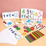 Bộ Thẻ Ghép Số Và Các Phép Tính Kèm Que Tính Giúp Bé Học Toán mới nhất 2020 thumbnail