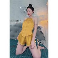 Đồ Ngủ Sexy nữ - Yếm Xếp Ly Nhiều Màu - 40 65kg - hot thumbnail