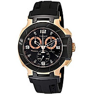 Tissot Men s T0484172705706 Rose Gold-Tone Watch with Black Band thumbnail