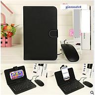 Bao da bàn phím kèm chuột cho điện thoại, máy tính bảng từ 4.4.-7.8 inch thumbnail