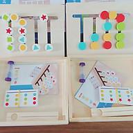 Bộ Montessori Toán học, hình khối 2in1 - Phát triển Tư duy Logic thumbnail