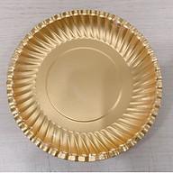 Combo 5 xấp dĩa giấy vàng PET đựng thực phẩm 16cm (50 cái combo,10 cái xấp) thumbnail