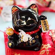 Mèo Thần tài Jinshi Đen 9cm Thành Tựu Mãn Nguyện thumbnail