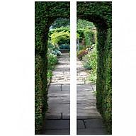 Tranh 3D Dán Cửa Hình Cổng Vào Vườn Hoa DM062 AZONE thumbnail