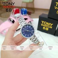Đồng hồ nữ đeo tay chính hãng Kimio dây kim loại mặt tròn màu bạc chống nước Tony Watch 68 thumbnail