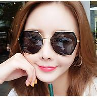 Kính mát đa giác nữ phiên bản Hàn Quốc kính râm thời trang kính đỏ mặt tròn chống tia UV thumbnail
