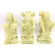 Bộ Phúc Lộc Thọ đá ngọc xanh - cao 20cm - nặng 4,45kg bộ thumbnail