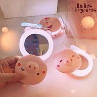 Gương lợn đèn led, có quạt, kèm hộp và dây sạc thumbnail