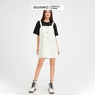 Yếm jean 2 dây nữ dáng suông phối nút GUMAC DB539 (KHÔNG KÈM ÁO TRONG) thumbnail