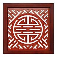 Tấm chống ám khói chữ thọ hán nâu khung gỗ sồi - TL253 thumbnail