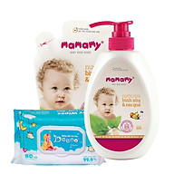 Nước rửa bình sữa thiên nhiên Mamamy 600ml + kèm 1 túi bổ sung 600ml tặng kèm 1 gói Beeno 80 tờ thumbnail