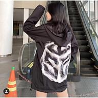 Áo khoác dù 2 lớp unisex form rộng chống nắng và tia UV in họa tiết khói thumbnail