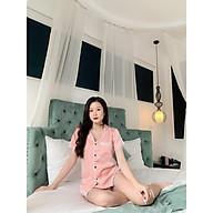 Bộ Ngủ Pijama Lụa Ngọc Trai Cộc Tay Cho Mẹ và Bé - Babi mama thumbnail