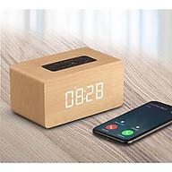 Loa du lịch kết nối Bluetooth cao cấp có đồng hồ báo thức - Hàng nhập khẩu thumbnail