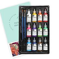 12 Colors Fabric Paint Set Kit 60ml Each Bottle Textile Paint for Canvas Ceramic Art & DIY Projects Graffiti Liquid thumbnail