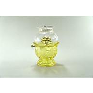 Đèn dầu thờ cúng Phật pha lê vàng đốt dầu lưu ly dầu hỏa chuôi vàng - Nhiều cỡ thumbnail