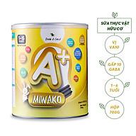 Sữa Công Thức Thực Vật Hữu Cơ Miwako A+ Hộp 700g Vị Vani - Giúp Giấc Ngủ Ngon, Cải Thiện Hệ Tiêu Hóa thumbnail