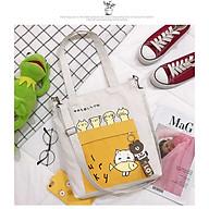 Túi xách tote vải canvas Toto mèo mèo T004 thumbnail