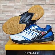 Giày bóng chuyền Promax PR-19003 màu trắng xanh, đế kép thumbnail