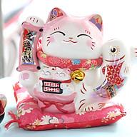 Mèo Jinshi Hồng Cá chép sứ Kim Vận Chiêu Tài 20cm (có video sản phẩm) thumbnail