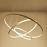 Đèn thả trần - đèn trần trang trí phòng khách 3 vòng to 3 chế độ màu ánh sáng LINH WIN thumbnail