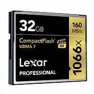 Thẻ Nhớ Lexar CF 32GB Professional 1066x (160 Mb s) - Hàng chính hãng thumbnail