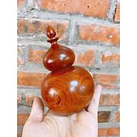 Lọ tăm hồ lô gỗ hương cao cấp - tặng kèm 1 gáo múc tiện lợi thumbnail