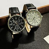 Đồng hồ dây da thời trang nam Gn1, mặt tròn viền kim loại chạy 3 kim thumbnail