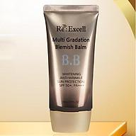 BBCream Re Excell 4 in1 Hàn Quốc Multi Gradation Blemish Balm R&B kem nền, kem lót trang điểm, che phủ khuyết điểm, chống nắng, bật tone da sáng mịn tự nhiên, không bí bết, không lộ vân kem, 50ml thumbnail