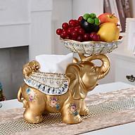 Hộp giấy ăn, lọ tăm, đĩa hoa quả hình voi xinh đáng yêu thumbnail
