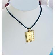 Set Mặt Dây Chuyền Mạ Vàng 18K Đúc Hình Quan Công, Kèm dây đeo da và hộp đựng trang sức. thumbnail