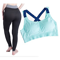 bộ quần áo thể thao tập yoga, tập gym SR01XN cao cấp xanh ngọc thumbnail