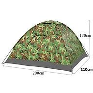 Lều Cắm Trại Du Lịch Vải Cao Cấp , Lều Cách Ly Chống Dịch Covid-19 (Rằn Ri) 2m x 1m1 x 1m3 thumbnail