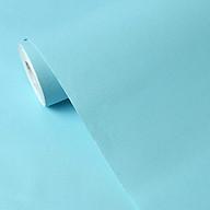 Combo 10m giấy dán tường xanh nhạt Pastel có keo sẵn- giấy dán tường phòng ngủ. thumbnail