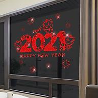 Decal dán tường, dán kính trang trí Tết-chào năm 2021- mã sp QR209153 thumbnail