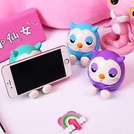Giá đỡ điện thoại hình chim cú mèo dễ thương, kiêm ống bỏ tiền tiết kiệm - Giao màu ngẫu nhiên thumbnail
