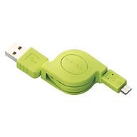 Dây Cáp Cuộn Micro USB (A-microB), 0.8m Elecom MPA-AMBIRLC08 - Hàng Chính Hãng thumbnail