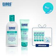 Combo Dưỡng thể cho da nhạy cảm EUBOS 200ml + Kem dưỡng da tay EUBOS 75ml tặng 4 kem dưỡng da tay mini 8ml và kem dưỡng ẩm cho da nhạy cảm 8ml thumbnail