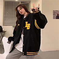 áo khoác dù bomber nữ nút cài phong cách bóng chày thời hot trend thumbnail