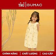 Đầm váy bé gái DKA1090 GUMAC thiết kế hoa cổ nơ thumbnail