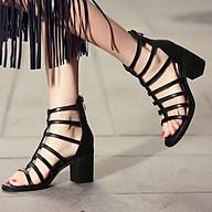 Sandal nữ Chiến Binh, Gót vuông 6p Dây Đan Cá Tính Kèm Mặt Nạ (Mã 233) thumbnail