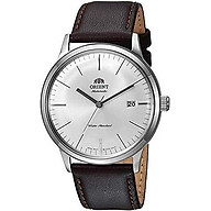 Orient 2nd Gen Bambino Version III Japanese Automatic Stainless Steel and Leather Dress Watch thumbnail