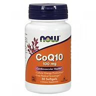 Thực Phẩm Chức Năng CoQ10 100mg NOW Foods USA Chống oxi hóa, tai biến tim mạch, giảm cholesterol, điều hòa huyết áp thumbnail