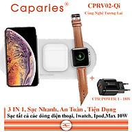 Sạc Nhanh Không Dây 10W CAPARIES CPRV02-Qi chuyên cho iphone, Iwatch, Airpod - Hàng Chính Hãng thumbnail