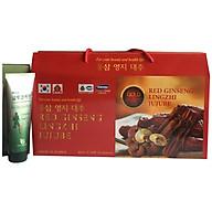 Thực phẩm bảo vệ sức khỏe Nước hồng sâm Linh chi Táo đỏ Hàn Quốc-Red Ginseng Lingzhi Jujube Gold 30 gói x 80ml, nước sâm bịch, nước sâm,(Kèm 1 Dầu lạnh Glucosamine) thumbnail