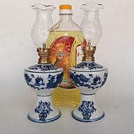 Cặp đèn thờ sứ Bát Tràng và 1 dầu Lưu Ly Cát Tường 2 lit thumbnail