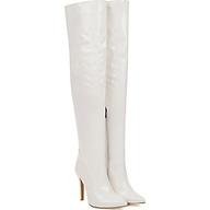 Boot đùi da bóng màu trắng gót nhọn thanh dáng GCC2902 thumbnail